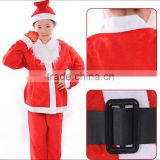 Christmas decoration, christmas 4pcs garment, for 10-13 year old boy, santa clause clothes, non-woven adult costumes