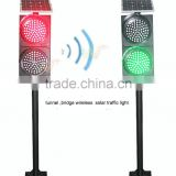 New bridge wireless traffic light exclusive led lens 300mm red green solar traffic signal light