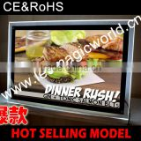 2014 Alibaba Express/Hot Sale New/Led Backlit Sign Menu/Advertising/Alibaba Fr/Aliexpress