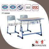 AP School classroom furniture double school desk and chair for adult