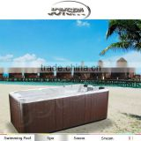 2015 newest model outdoor spa pool for outdoor pool spa with luxury waterfall fountain speaker
