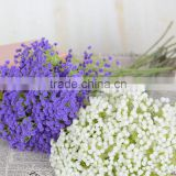wholesale 2017 plastic white purple baby breath flower for indoor decoration