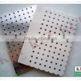 pvc laminated ceiling tile china acoustic perforated gypsum board