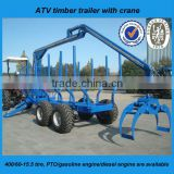 ATV ZM 5004 timber trailer with crane in China sell worldwide with CE