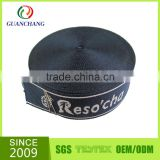 GuanChang factory accept jacquard your own logo on polyester elastic ribbon