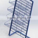 C8581 Floor Standing 4 Basket Display Rack