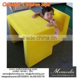 2017 new yellow mini fabric sofa and desk set for baby kids and children colorfull children furniture nursery school furniture