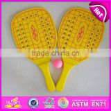 2015 New design Wooden Beach Racket Set,Good quality Wooden Beach Racket,Beach Rackets set logo printed beach racket toy W01A103