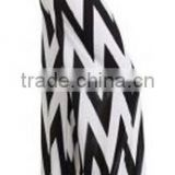 casual fat women loose black and white zigzag stripes high waist wide leg chevron palazzo pants