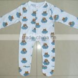 wholesale 100%cotton allover printed Baby Bodysuit , baby sleep-suite