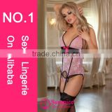 Sunspice hot sale top quality guarantee image copyright ribbon tie sexy lace halter dress sexy garter belts