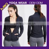 2015 Fitness apparel high quality cheap women yoga jacket running jacket black yoga jacket yoga wear