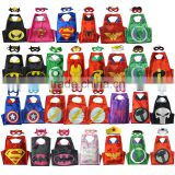 Factory supply superhero cape and mask costumes for kids