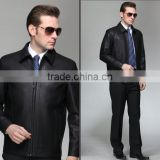 Hot wholesale Biker jacket with zips and belt checkout men's fashion leather motorcycle coats washed jackets