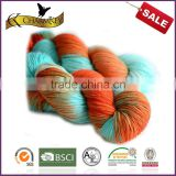 Nm 3.5 Colorful space dyed wool/nylon blend yarn for hand knitting with good quality