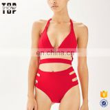 Chinese supplier red sexi girl hot triangle bikini