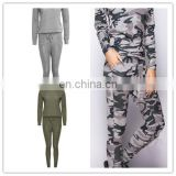 2016 China OEM Ladies Womens Casual Leisure LOUNGE WEAR Set JOGGERS Tracksuit