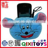 Lovely hot sale mouse head plush animal stuffed mobile phone holder