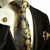 Knit Blue Mens Silk Necktie Digital Printing Shirt Collar Accessories