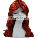 MCW-2351 New 2017 fashion star rihanna red long curly women wig mermaid cosplay wig
