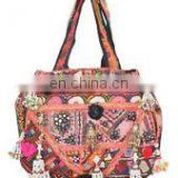Banjara Bag Vintage Hobo Sling Tote Ethnic Tribal Gypsy Indian Hand embroidered Vintage shoulder bag purse