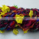 FLOWER Yarn YELLOW AND RED AND BLUE AND ORANGE