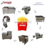 Semi-Automatic Frozen French Fries Frying Production Line Electric Potato Chips Machine Fry