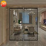 JYFQ0083 Customized decorative stainless steel hotel room divider partition