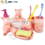 Plastic Bathroom tools piggy shape Soap holder bath sponge bath lotion bottle
