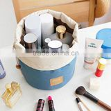 Travel Restroom Barrel Cosmetic Bag multi Makeup Bags,Blue