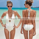 Cut out 1 one piece swimsuit Women Backless swimwear padded bathing suit Sey push up halter bodysuit monokini