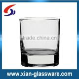 Promotional wholesale high quality clear thick bottom water tumbler/glass tumbler/wine tumbler