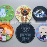 custom soft PVC coaster, silicone rubber drink coasters for beer, plastic drink coasters