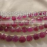 Wholesale Good Quality Pink Sapphire Faceted Heart Beads
