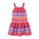 Wholesale Girls Custom Printed Drop-Waist Dress Tutu Dress Girls
