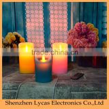 Blue wax Simulated flame led candle light for home decoration