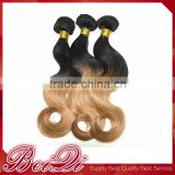 Factory wholesale lowest price brazilian deep curly ombre hair weave