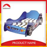 2015 New Design Wooden kids race car bed