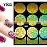 2016 colorful pvc french hollow pvc nail art design nail sticker stencil