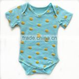 2016 summer baby romper set gold polka dot knitted romper baby romper set                                                                         Quality Choice