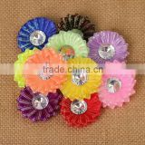 Wholesale sparkly chiffon flower clip baby hair clips Flowers hair accessory shoes flower CB-3371