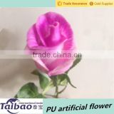 Flower long 46cm PU material wedding decoration pink rose buds