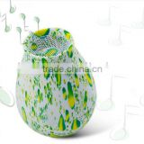 elegant and beautiful NFC speakers green drops wireless speakers phone sound
