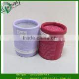Paper cosmetic round tube packaging cardboard tube red paper tube for lip balm