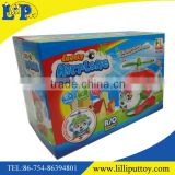 B/O universal lighting cartoon aircraft toy with music