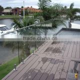 corrugated stainless steel mini top rail / handrail slotted pipe for glass balcony railing designs
