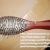 HIGH QUALITY wood round hair brush with boar bristle