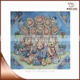 cute teddy bear pattern high quality jacquard fabric cotton fabric cushion cover hand bag material