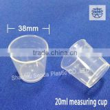 20 ml medicine disposable measuring cups, measuring cup in digital scale, measuring plastic cup