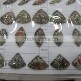 flower agate triangle cabochon bead charms and pendants,semi precious stone gemstone cabs, factory direct wholesale